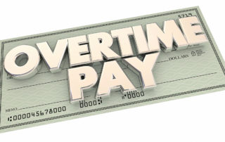 Exemption from overtime pay.