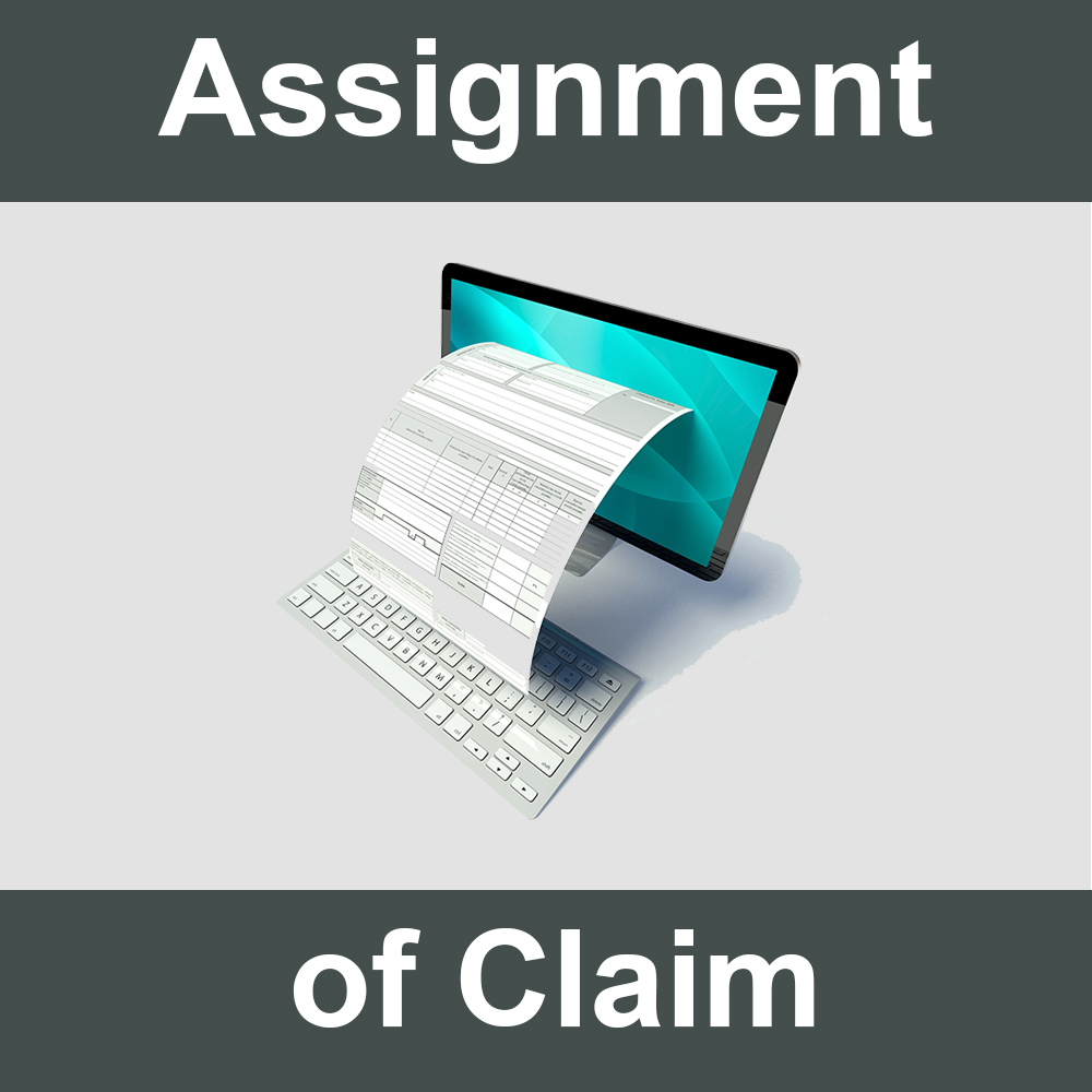 Assignment of Claim Against Responsible Party's Insurance form.