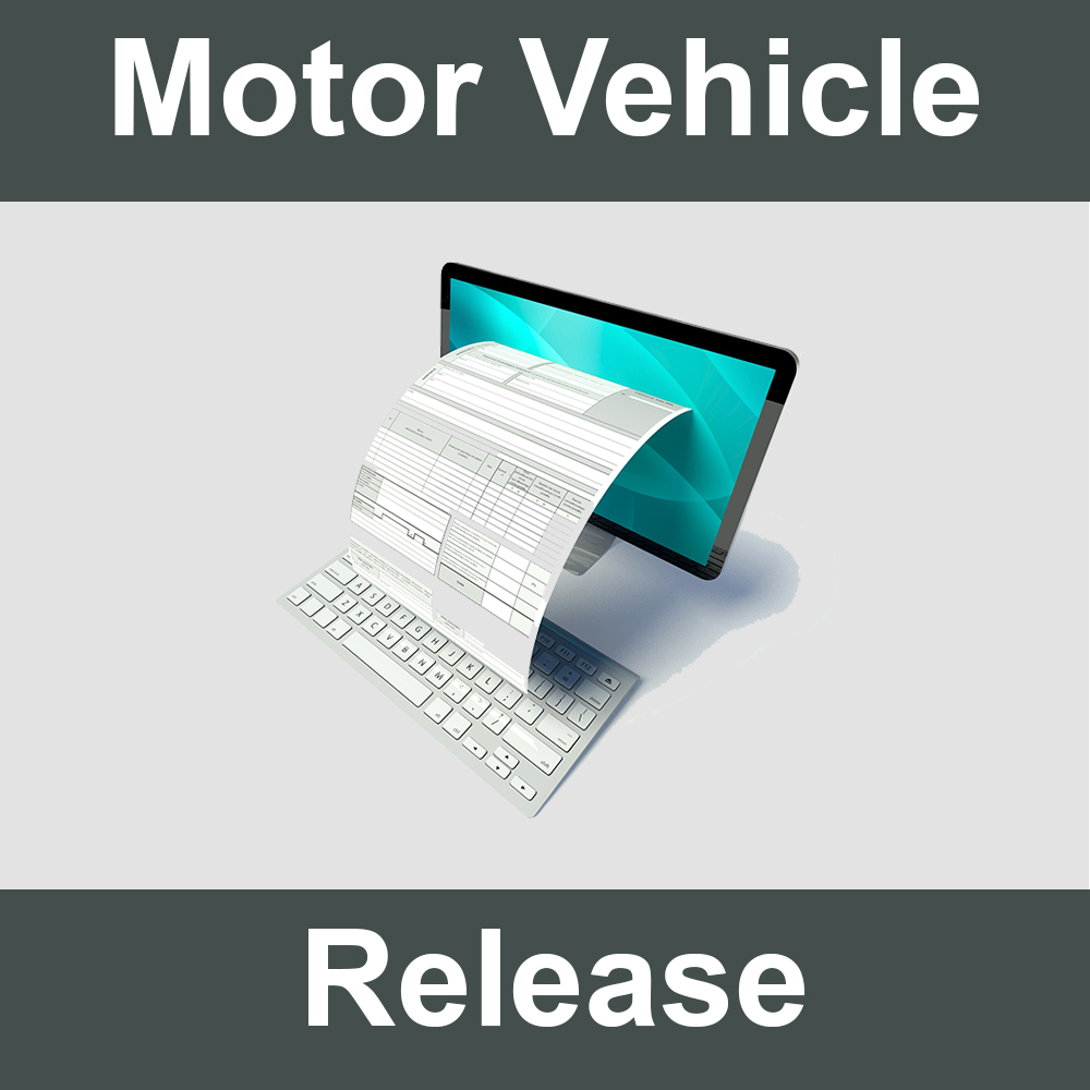 Motor Vehicle Release form.