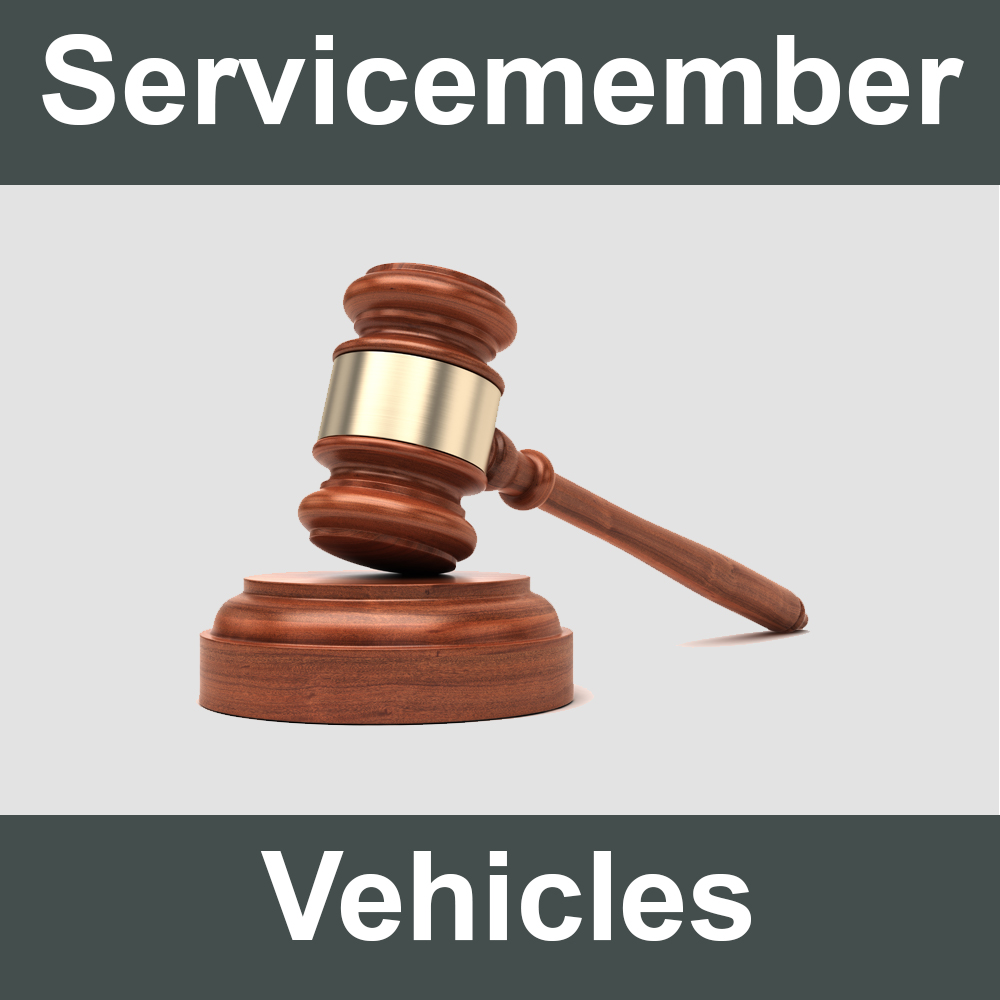 Military Servicemember Vehicles