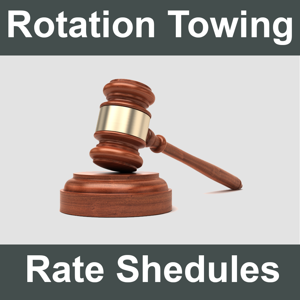 Rotation Towing List Rate Schedules